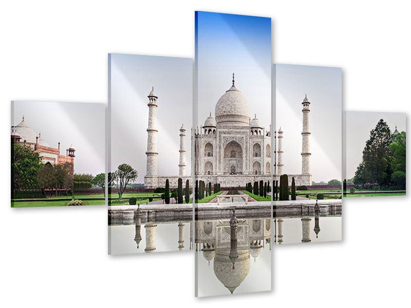 Acrylglasbild 5-teilig Taj Mahal