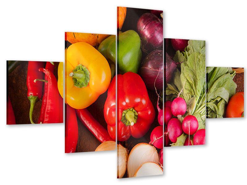 Acrylglasbild 5-teilig Gemüsefrische