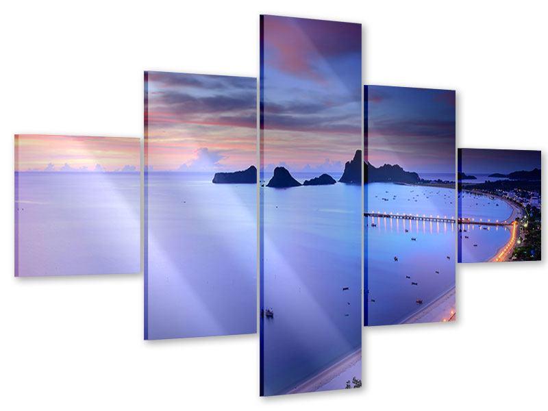 Acrylglasbild 5-teilig Ano Manao Bucht