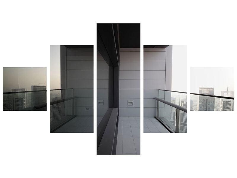 Acrylglasbild 5-teilig Balkon in Dubai