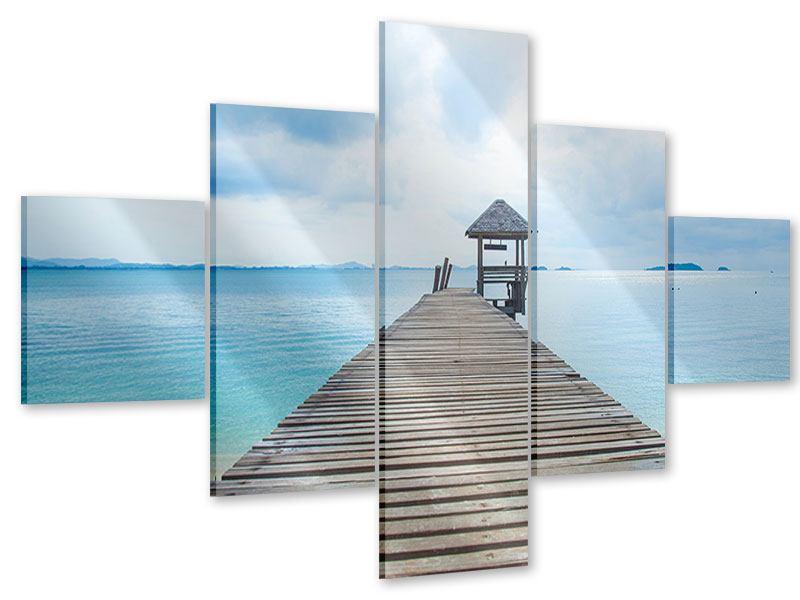 Acrylglasbild 5-teilig Ozean-Steg