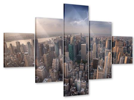 Acrylglasbild 5-teilig Manhattan