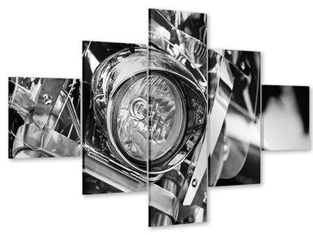 Acrylglasbild 5-teilig Motorrad Close Up