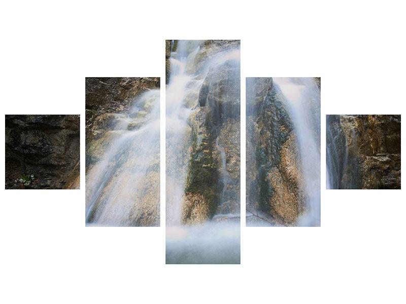 Acrylglasbild 5-teilig Imposanter Wasserfall