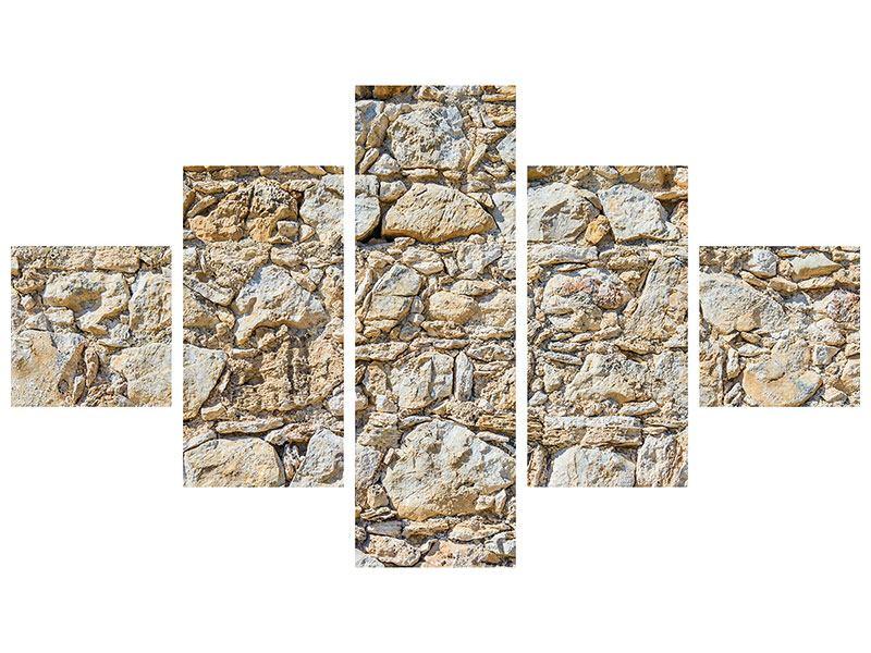 Acrylglasbild 5-teilig Sandsteinmauer
