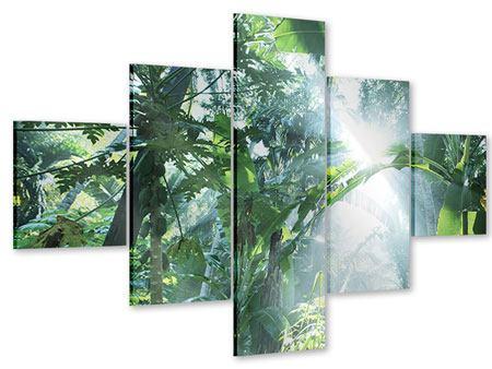 Acrylglasbild 5-teilig Dschungelstar