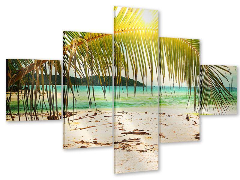 Acrylglasbild 5-teilig Ab in die Hängematte