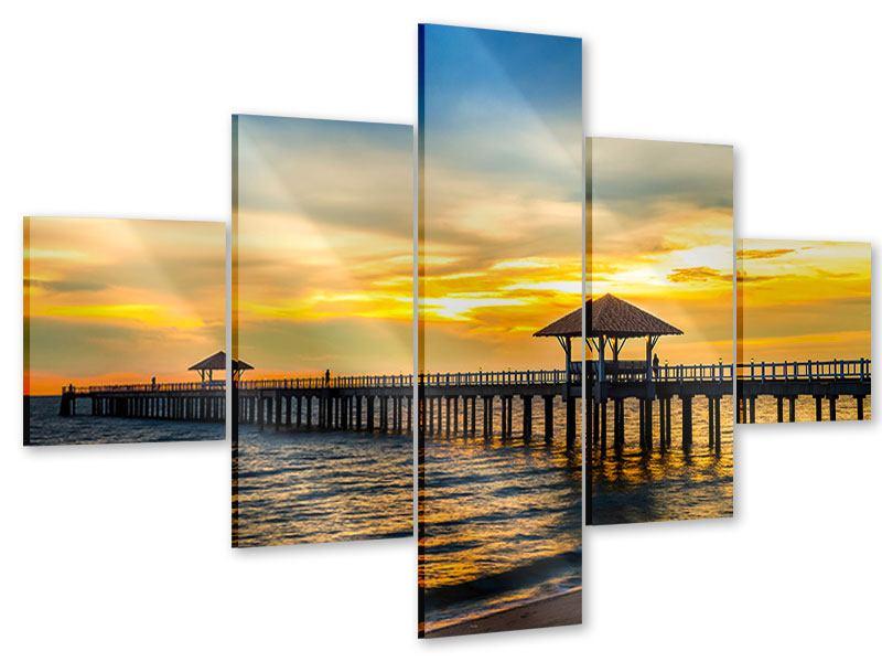 Acrylglasbild 5-teilig Brücke der Liebe