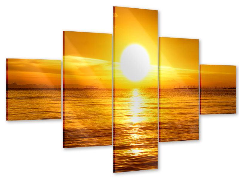 Acrylglasbild 5-teilig Traumhafter Sonnenuntergang