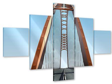 Acrylglasbild 5-teilig Brückenpanorama