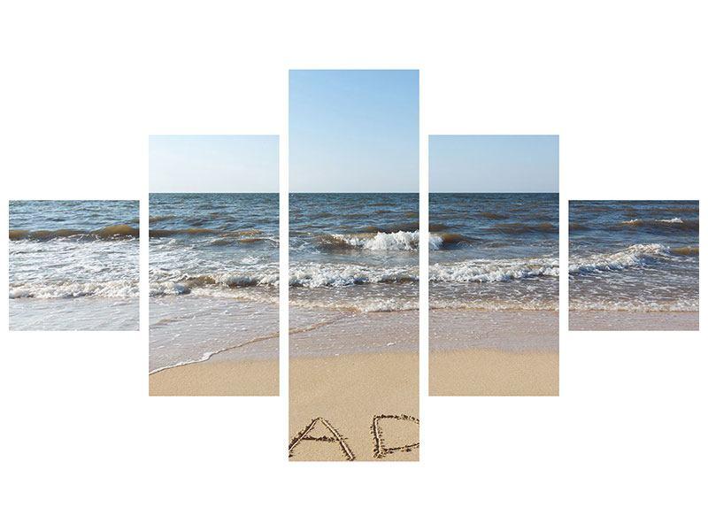 Acrylglasbild 5-teilig Sandspuren