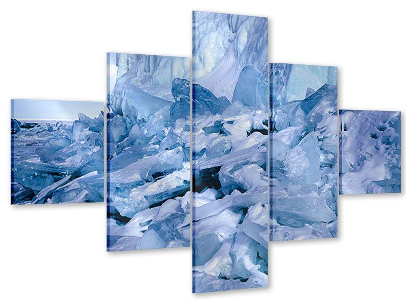 Acrylglasbild 5-teilig Eislandschaft Baikalsee