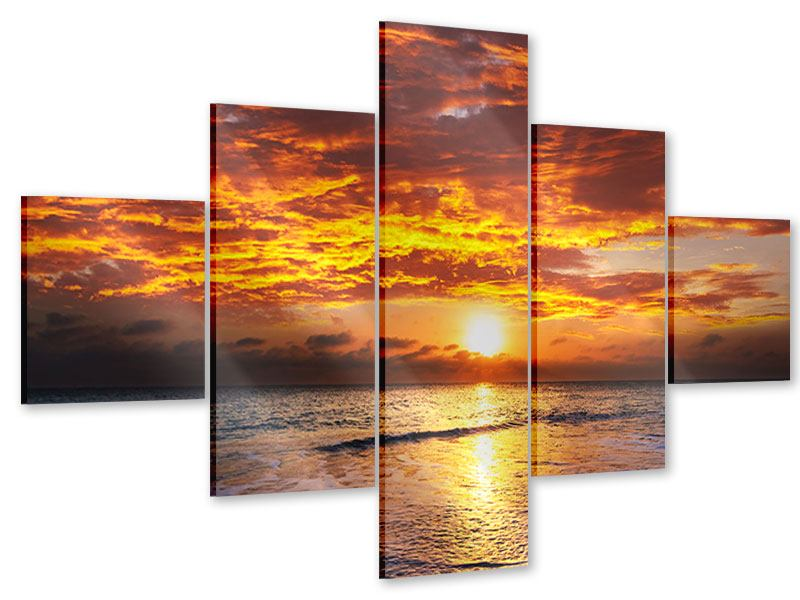 Acrylglasbild 5-teilig Entspannung am Meer
