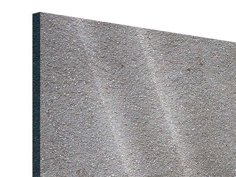 Acrylglasbild 5-teilig Beton in Dunkelgrau