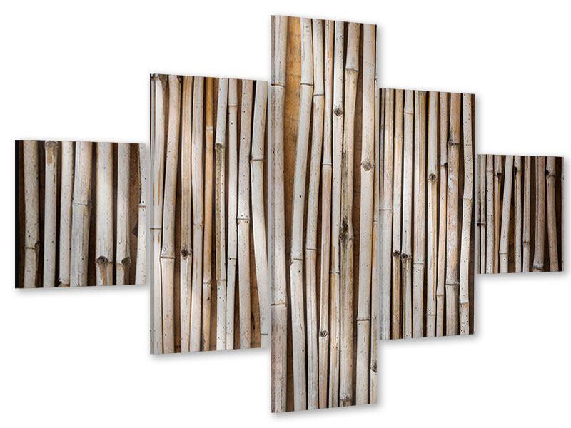 Acrylglasbild 5-teilig Getrocknete Bambusrohre