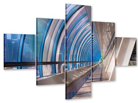 Acrylglasbild 5-teilig Hypermoderne Brücke