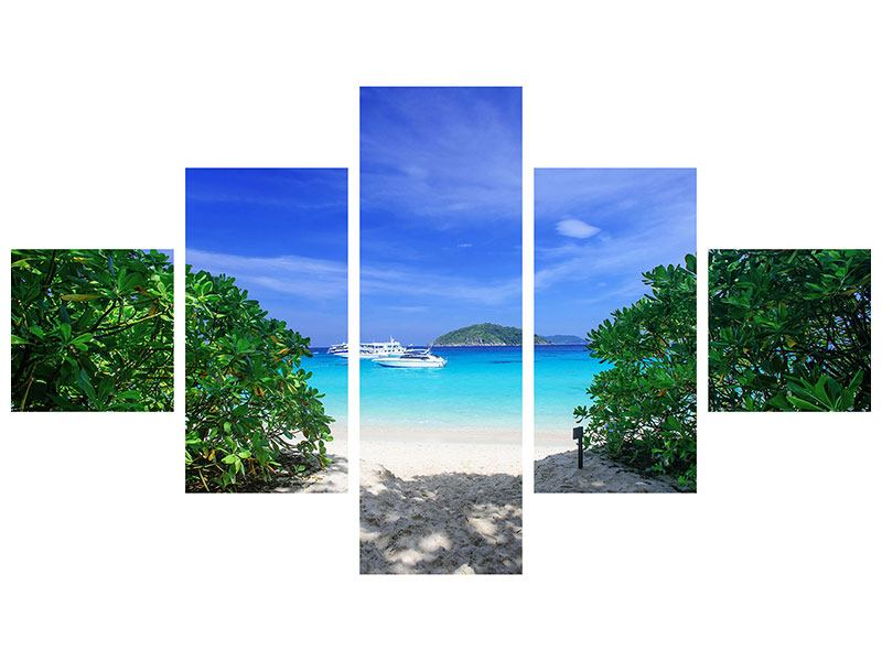Acrylglasbild 5-teilig Similan-Inseln