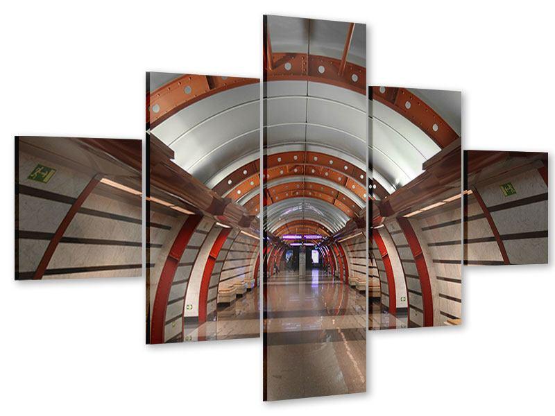 Acrylglasbild 5-teilig U-Bahn Station