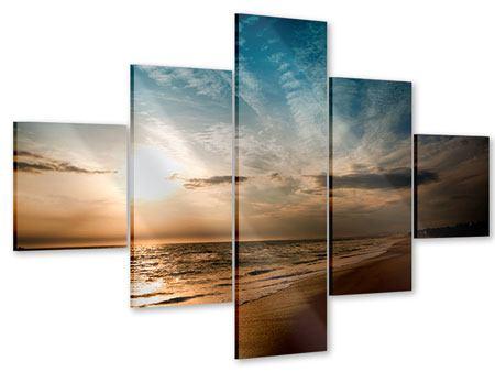 Acrylglasbild 5-teilig Strandspaziergang
