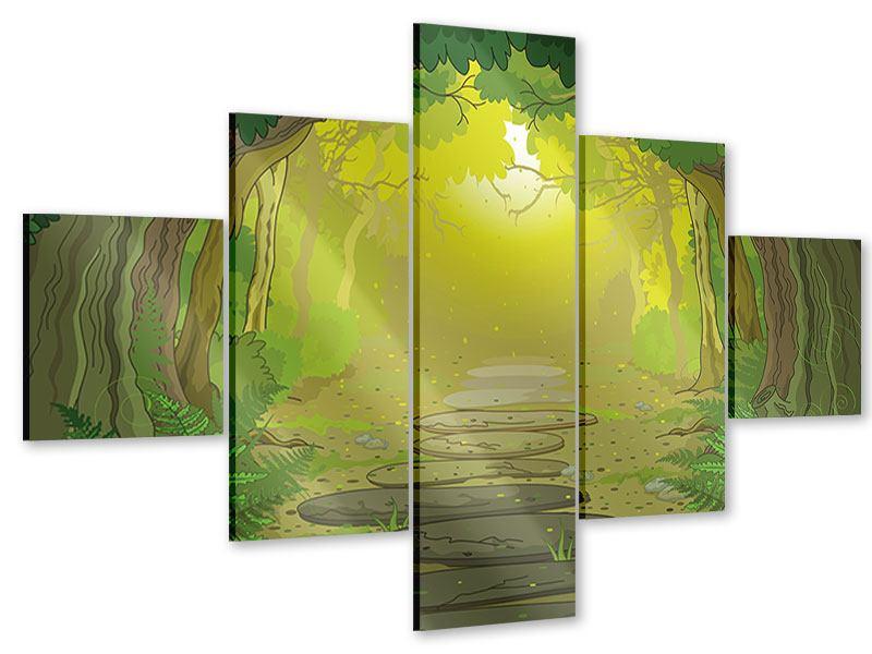 Acrylglasbild 5-teilig Der Märchenwald