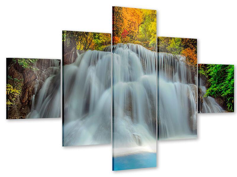 Acrylglasbild 5-teilig Fallendes Gewässer