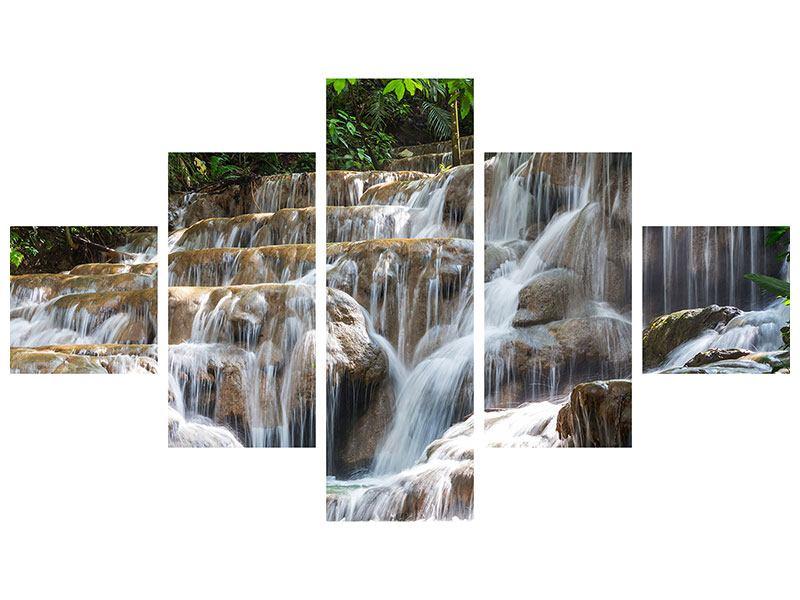 Acrylglasbild 5-teilig Mexikanischer Wasserfall