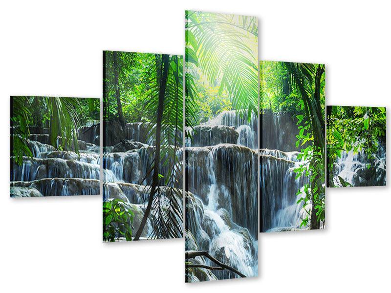 Acrylglasbild 5-teilig Wasserfall Agua Azul