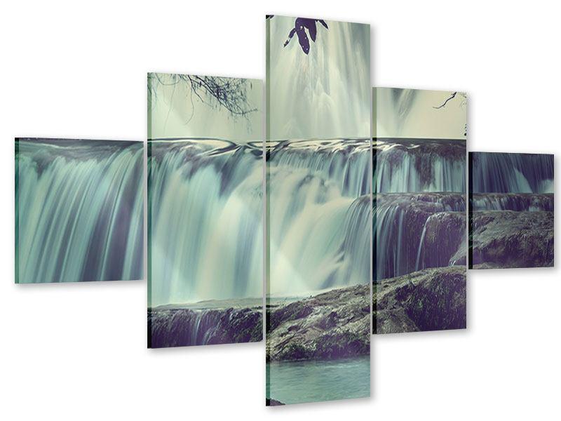 Acrylglasbild 5-teilig Wasserfall Mexiko