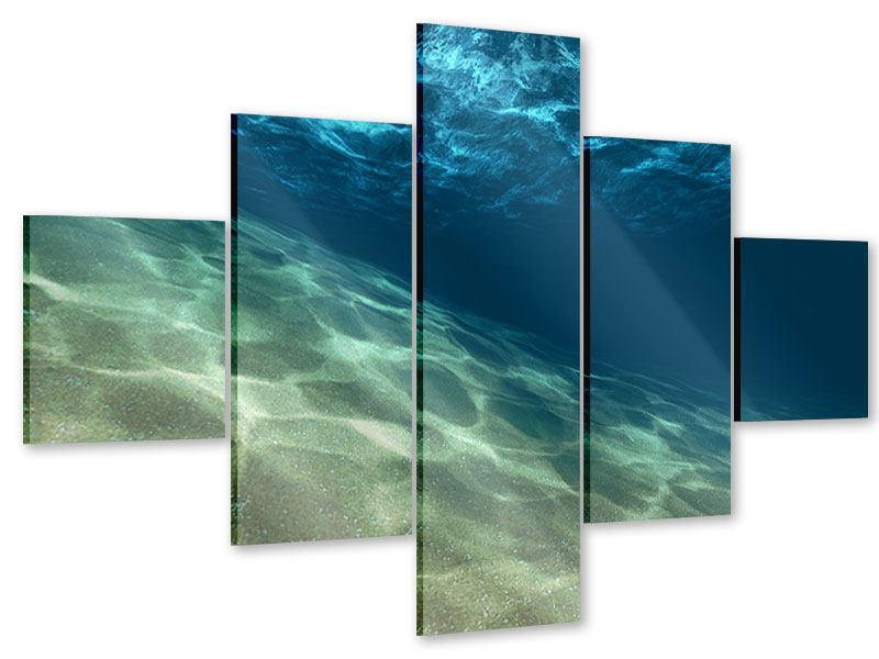 Acrylglasbild 5-teilig Unter dem Wasser