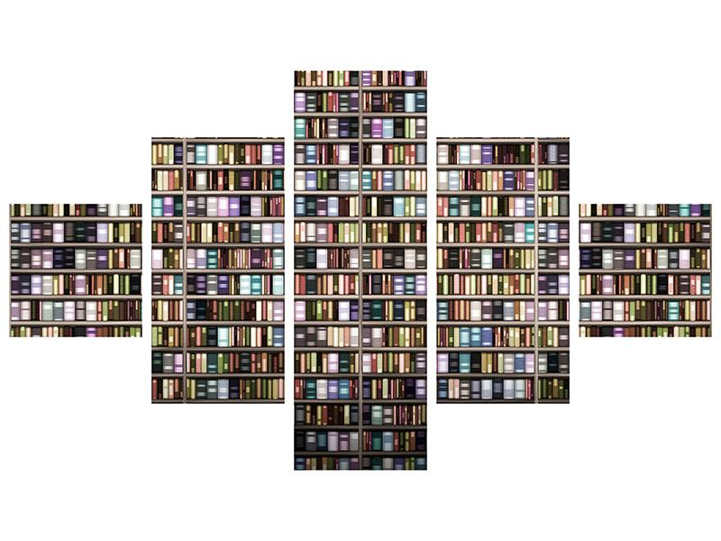 Acrylglasbild 5-teilig Bücherregal