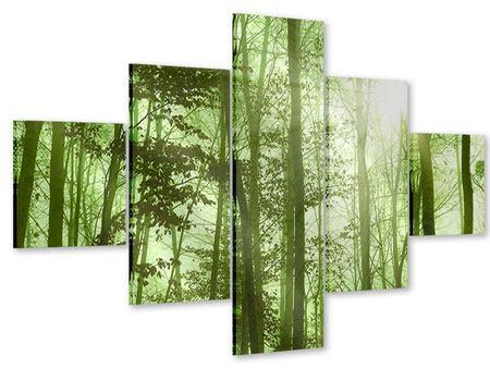Acrylglasbild 5-teilig Nibelungenwald