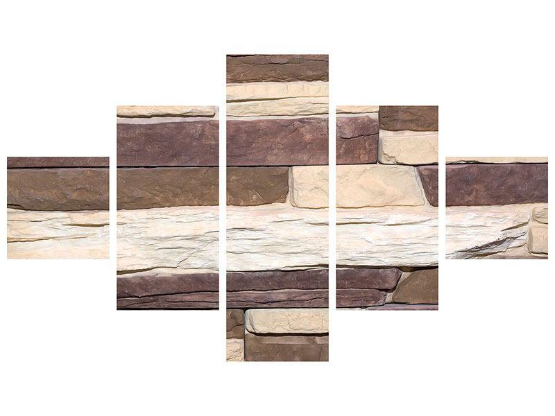 Acrylglasbild 5-teilig Designer-Mauer