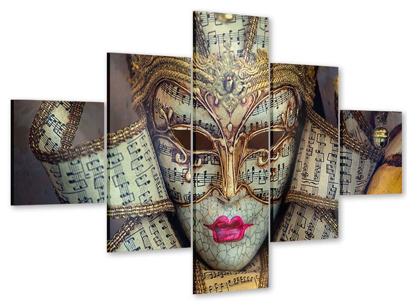 Acrylglasbild 5-teilig Venezianische Maske