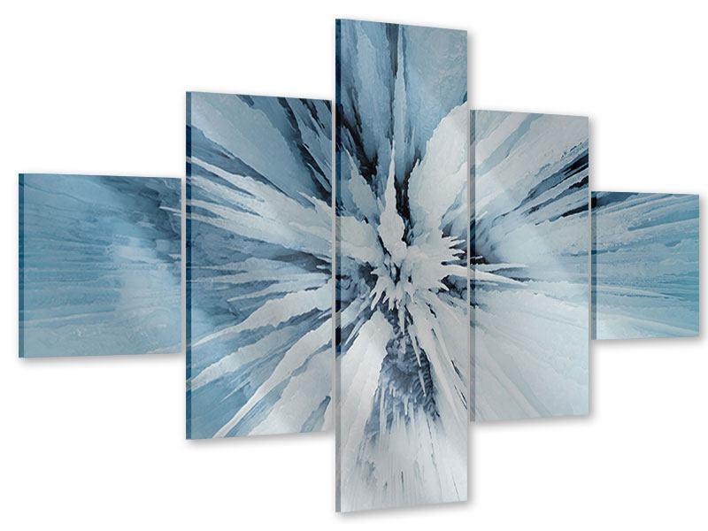 Acrylglasbild 5-teilig Eiskunst