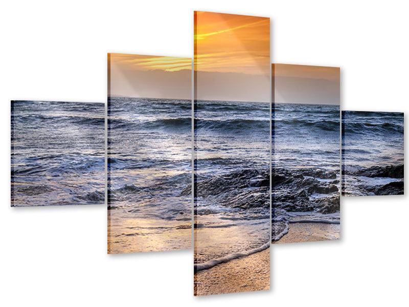 Acrylglasbild 5-teilig Das Meer