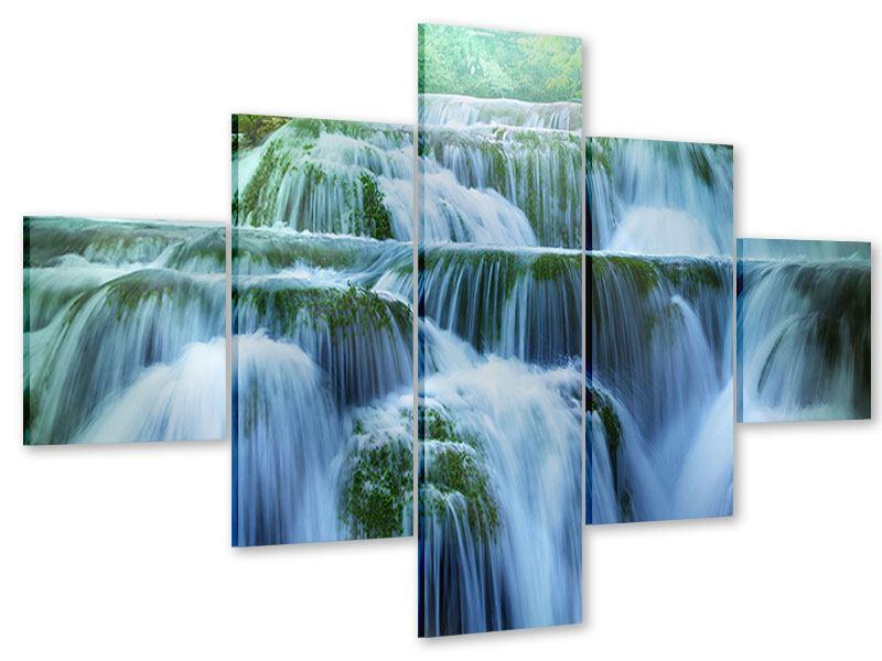 Acrylglasbild 5-teilig Gigantischer Wasserfall