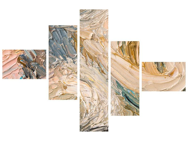 Acrylglasbild 5-teilig modern Ölgemälde