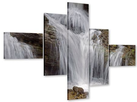 Acrylglasbild 5-teilig modern Wasserfall XXL