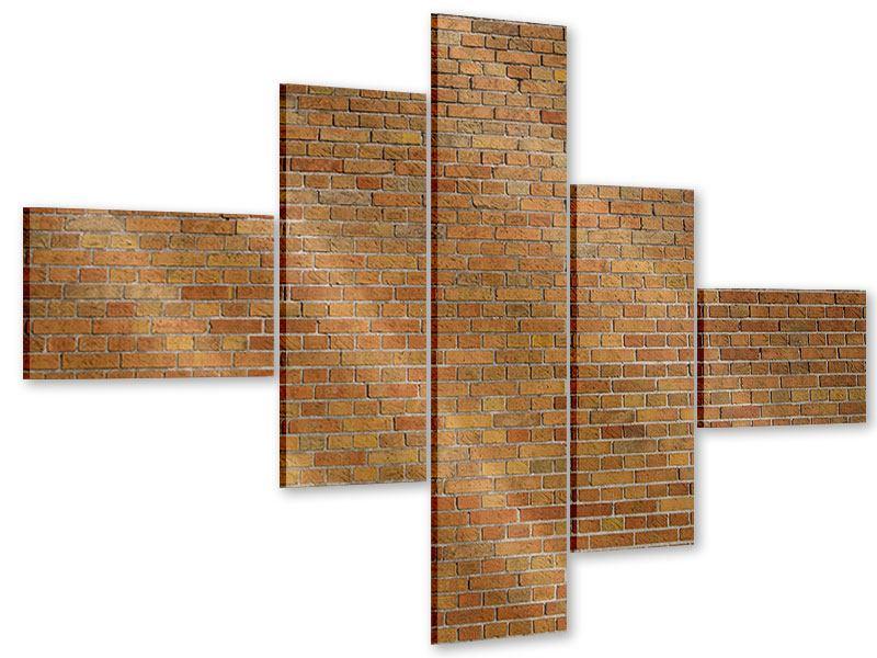 Acrylglasbild 5-teilig modern Backsteinhintergrund