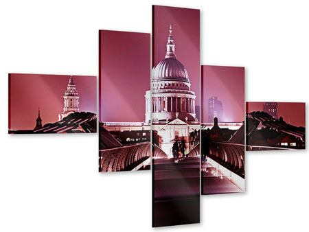 Acrylglasbild 5-teilig modern Millennium Bridge