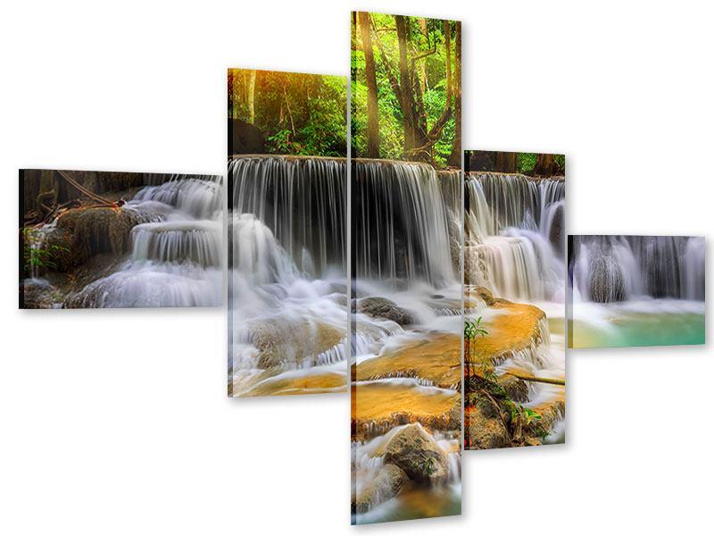 Acrylglasbild 5-teilig modern Nationalpark Si Nakharin