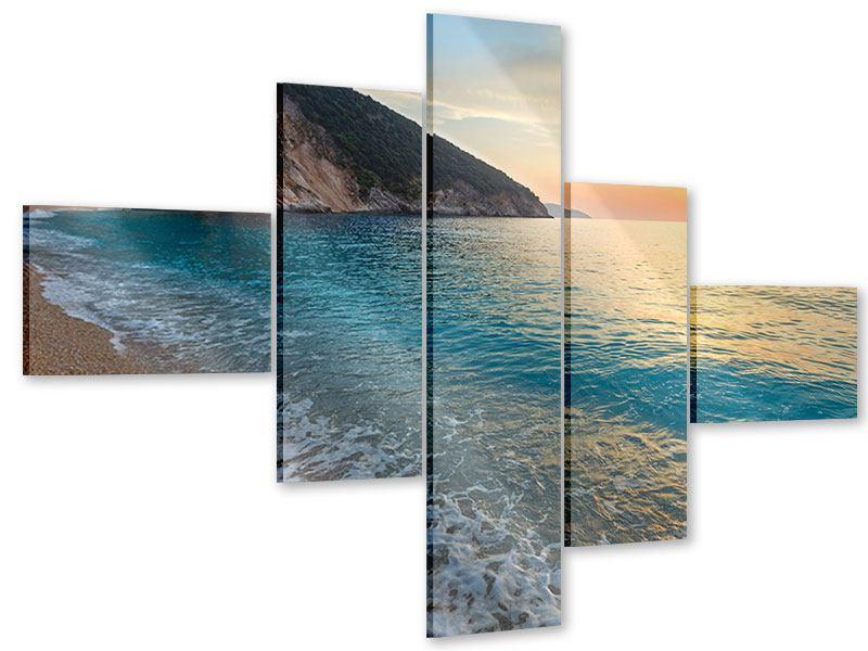 Acrylglasbild 5-teilig modern Felsen