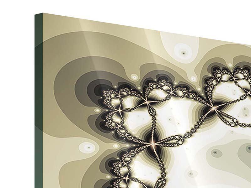 Acrylglasbild 5-teilig modern Abstrakter Schmetterling