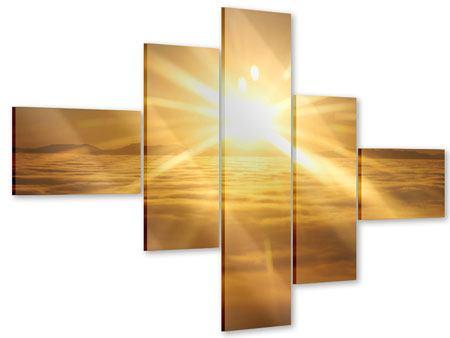 Acrylglasbild 5-teilig modern Über dem Wolkenmeer