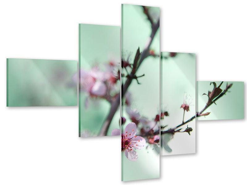 Acrylglasbild 5-teilig modern Die japanische Kirschblüte