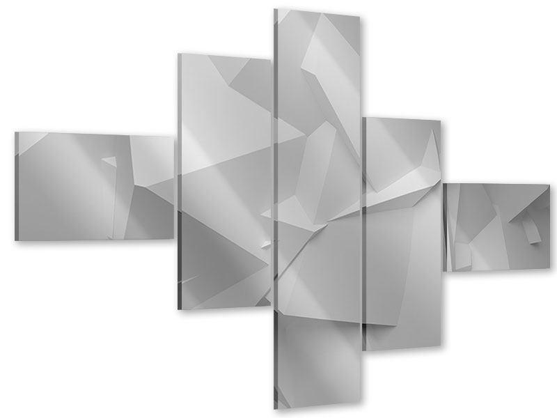 Acrylglasbild 5-teilig modern 3D-Raster