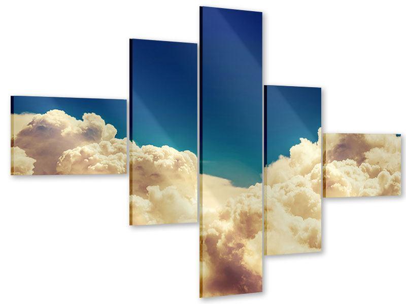 Acrylglasbild 5-teilig modern Himmelswolken