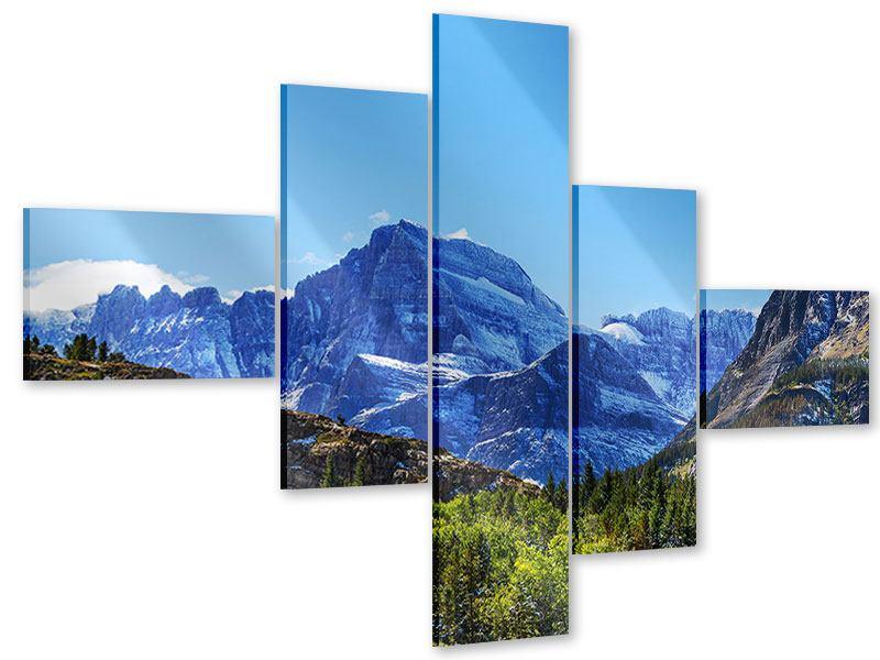 Acrylglasbild 5-teilig modern Dem Gipfel entgegen