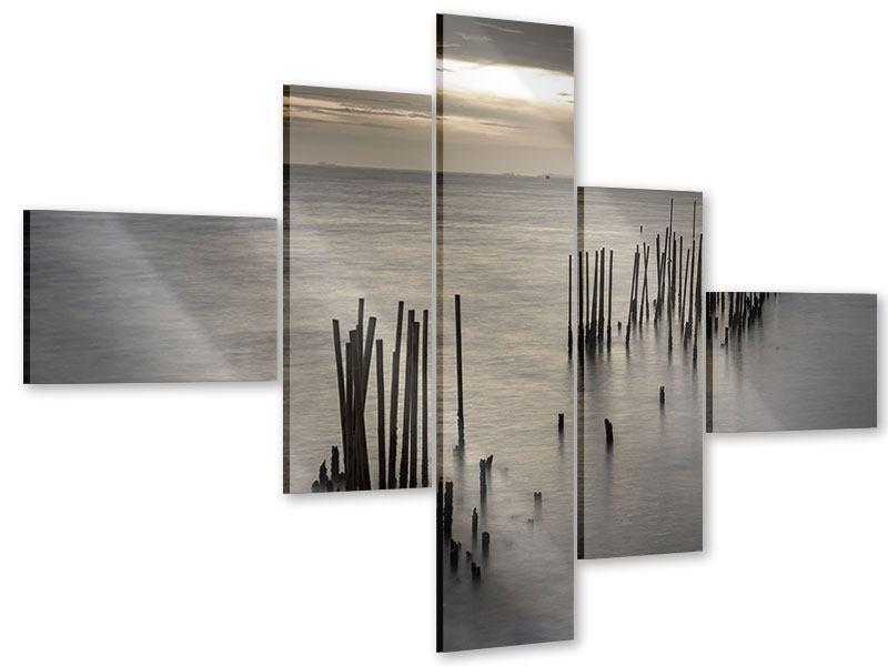 Acrylglasbild 5-teilig modern Das Meer und die Träne