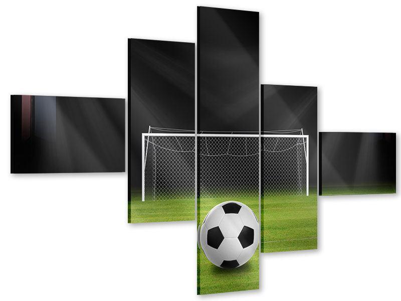 Acrylglasbild 5-teilig modern Fussball-Tor
